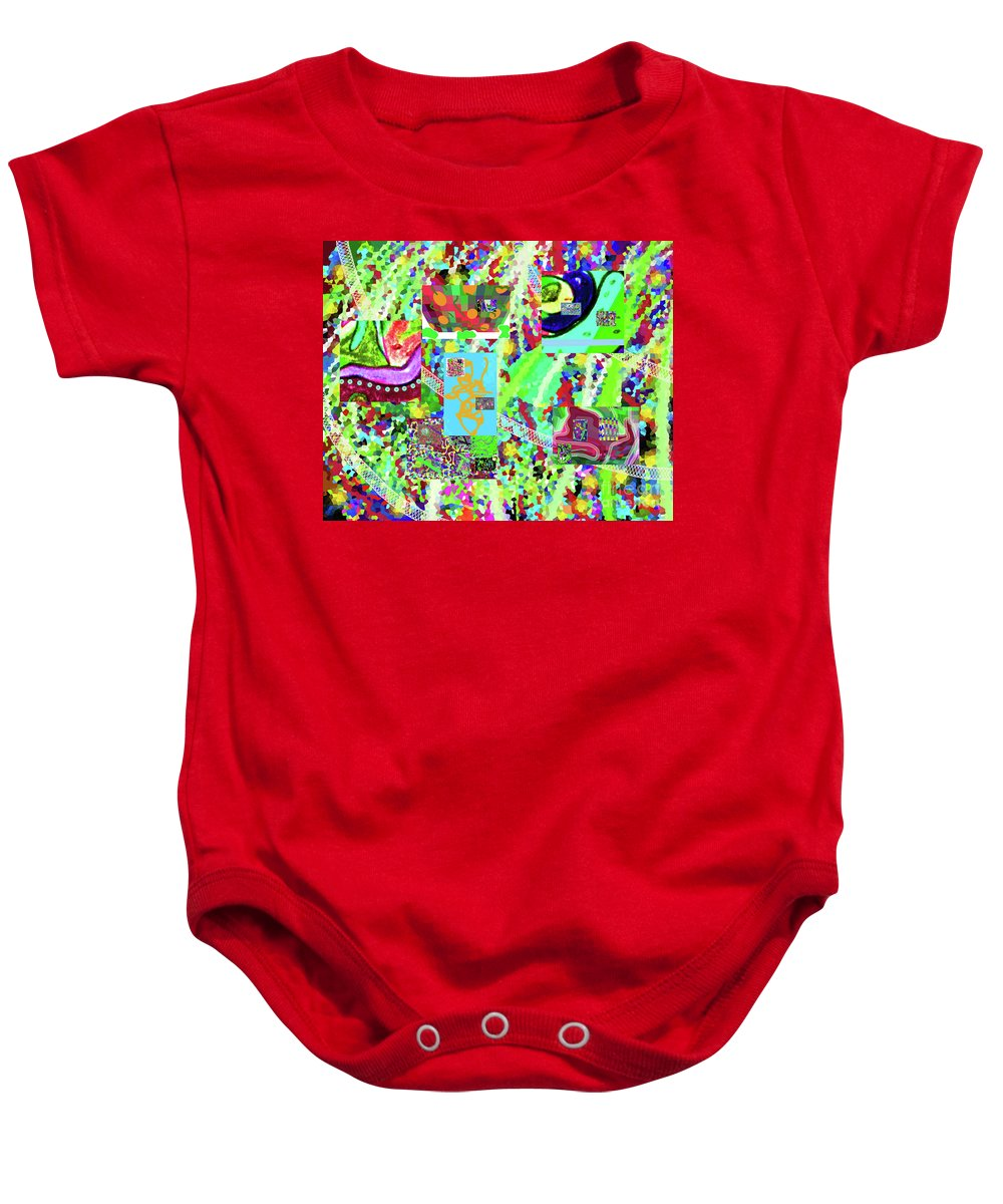 Walter Paul Bebirian Baby Onesie featuring the digital art 4-12-2015cabcdefghijklmnopqrtuv by Walter Paul Bebirian