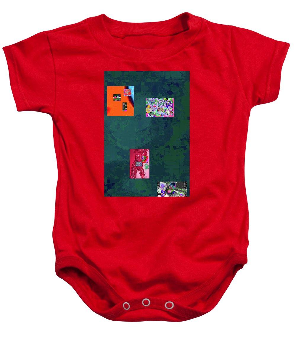 Walter Paul Bebirian Baby Onesie featuring the digital art 5-4-2015f by Walter Paul Bebirian