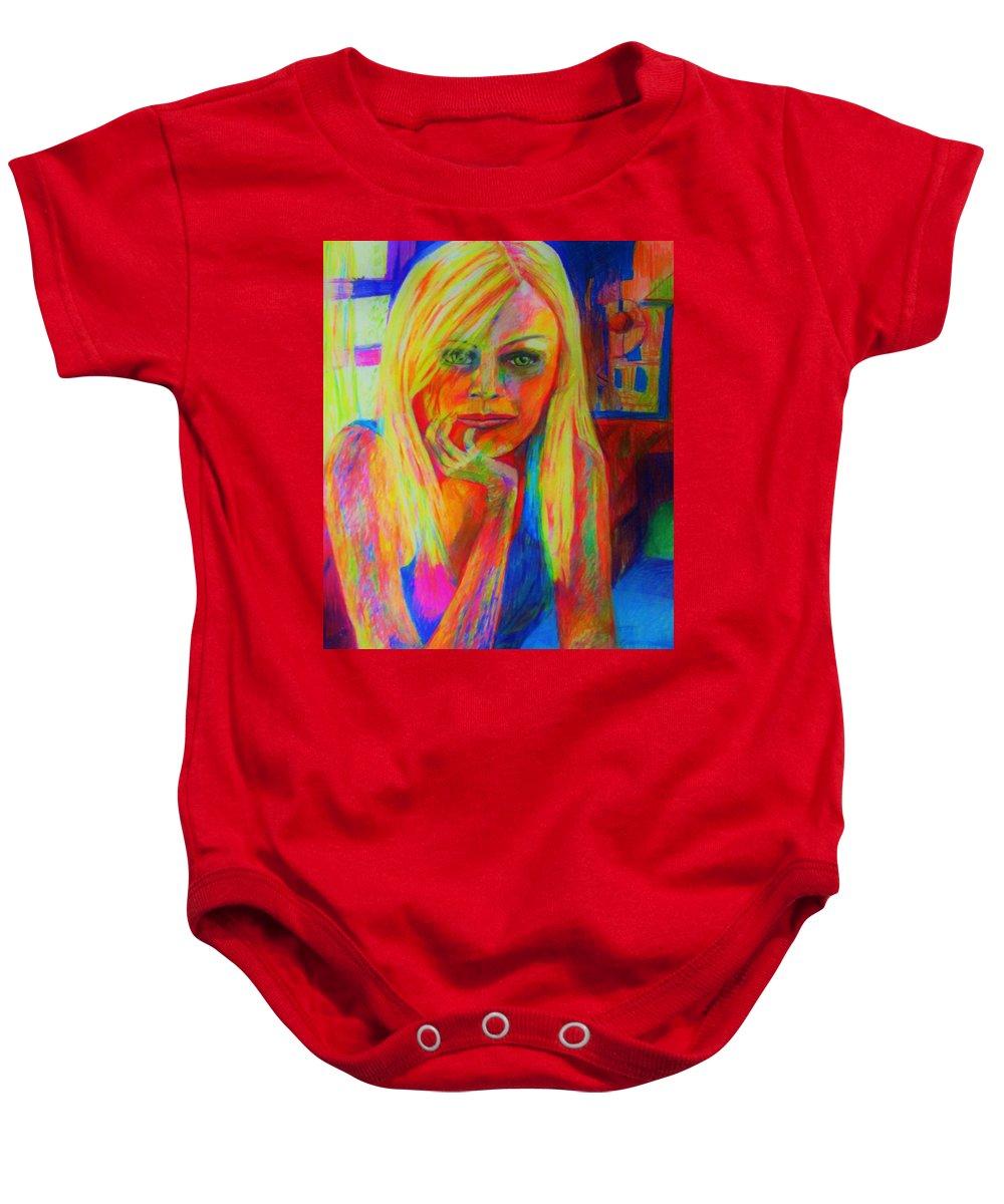 Baby Onesie featuring the painting Janas by B Janas