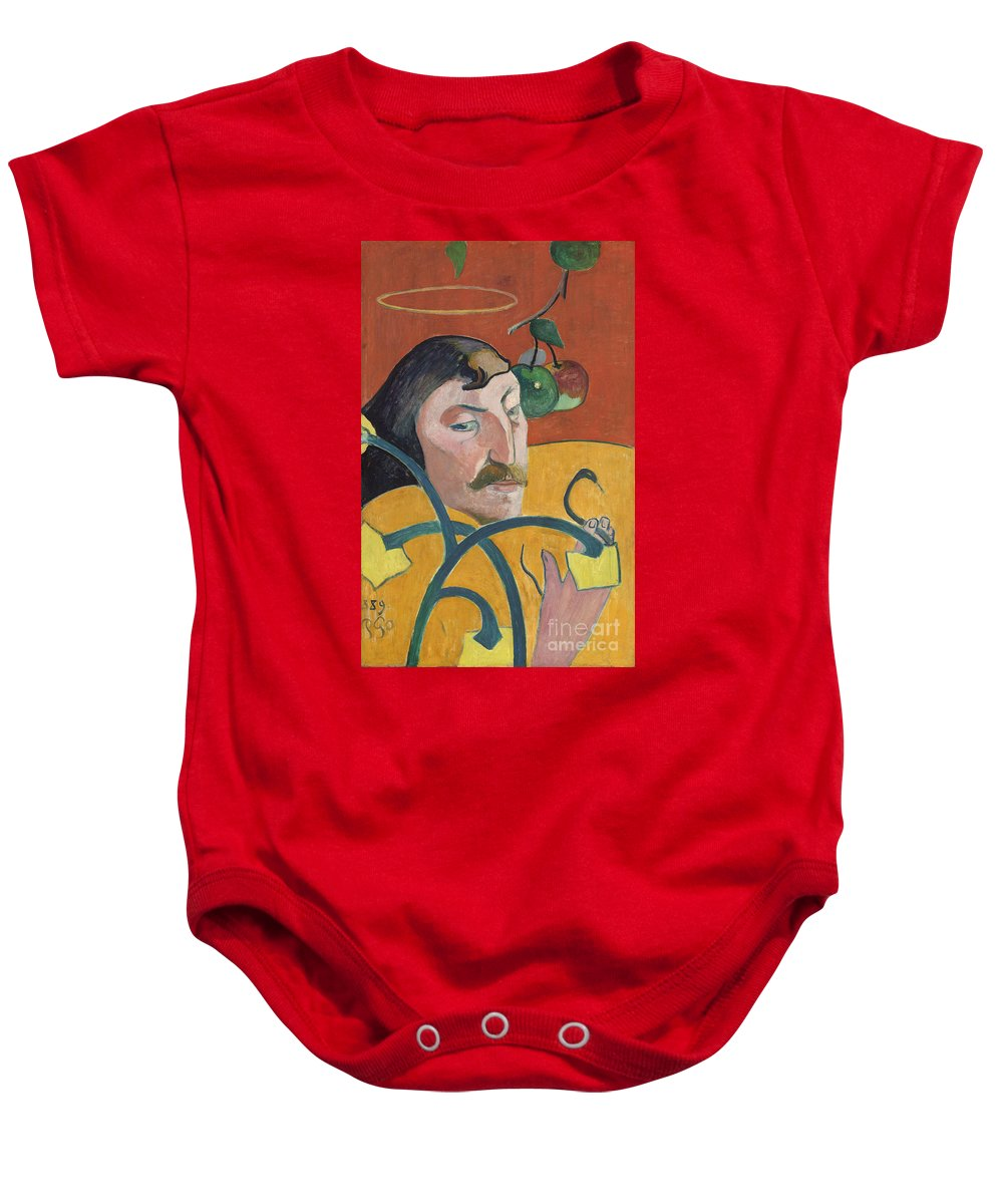 Baby Onesie featuring the painting Self-portrait by Paul Gauguin