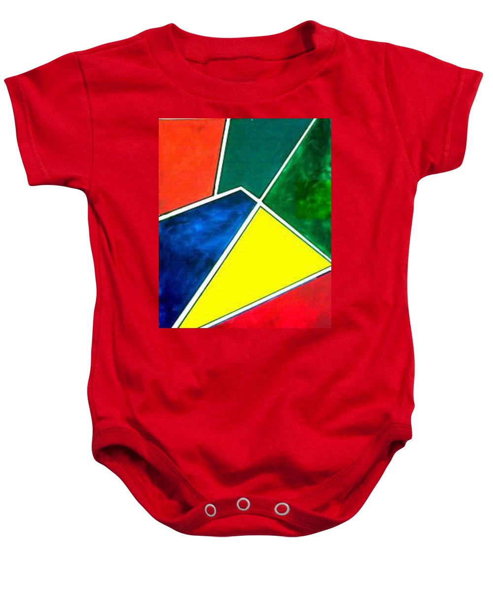 Primary And Sondary Colors Baby Onesie featuring the painting 99870 Colors by Andrew Johnson