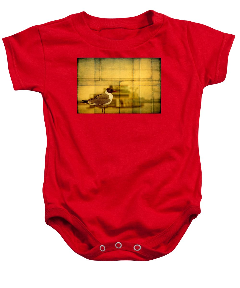 Alicegipsonphotographs Baby Onesie featuring the photograph A Bird In New Orleans by Alice Gipson