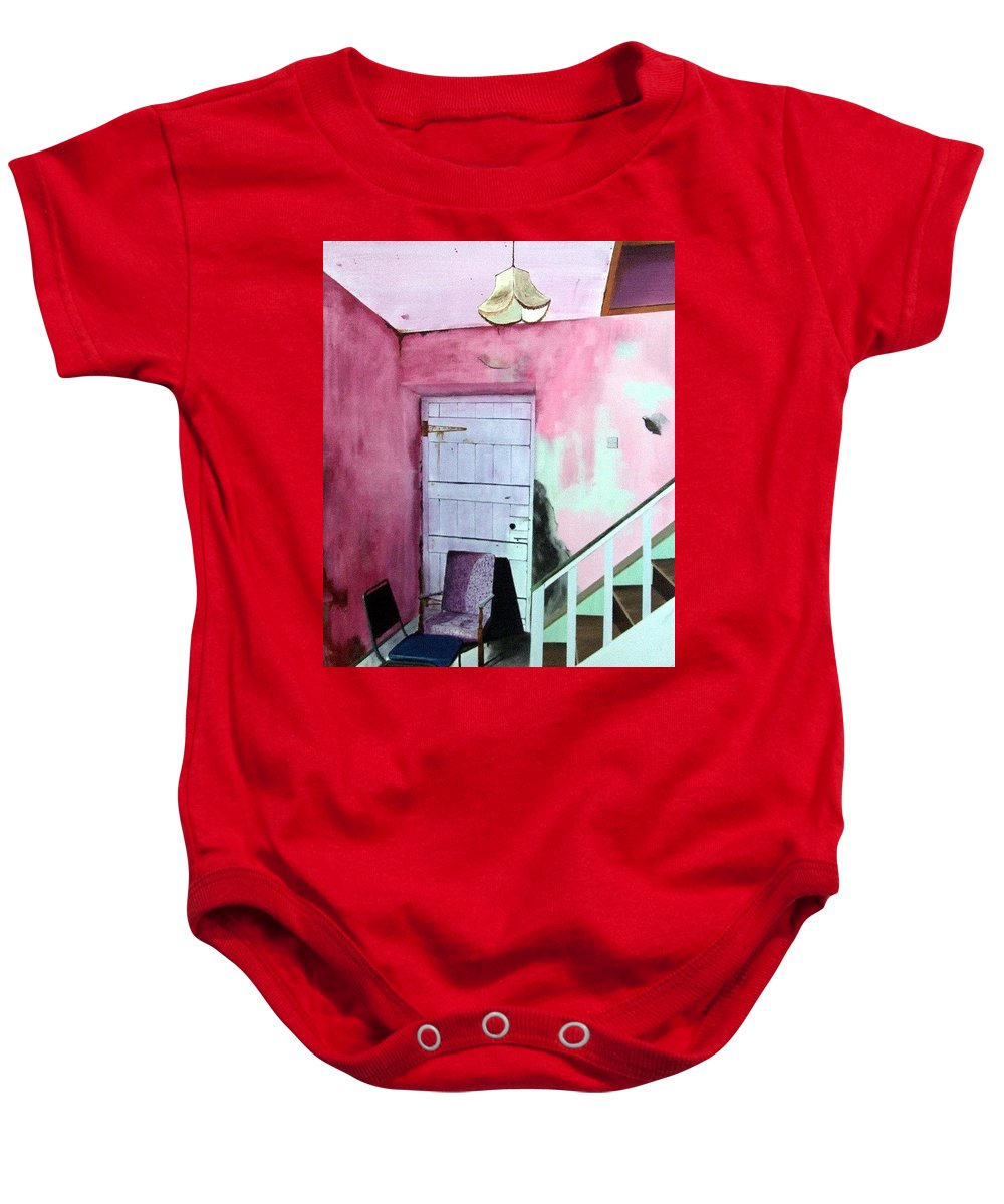Abandoned Baby Onesie featuring the painting Abandonment by Tony Gunning