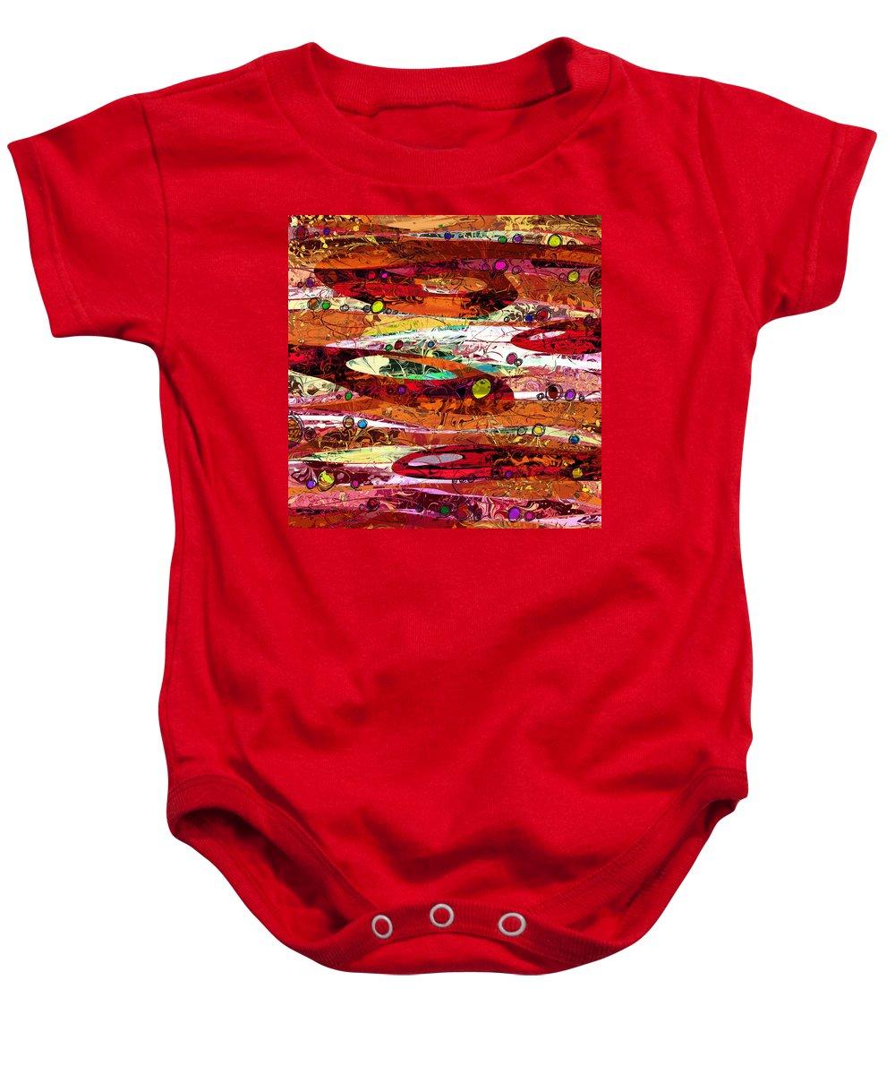 Abstract Baby Onesie featuring the digital art Abiding by Rachel Christine Nowicki