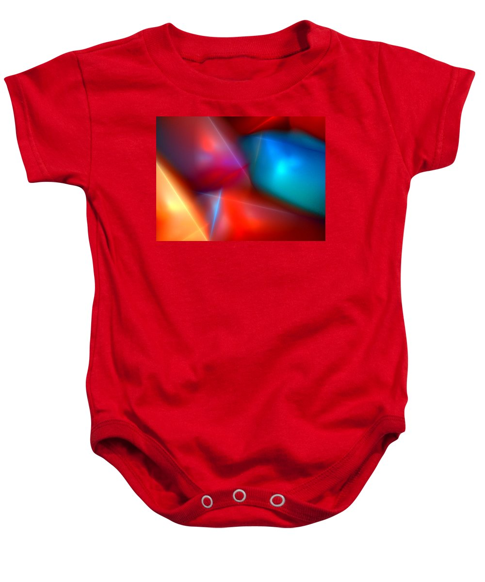Digital Painting Baby Onesie featuring the digital art Abstract 060110 by David Lane