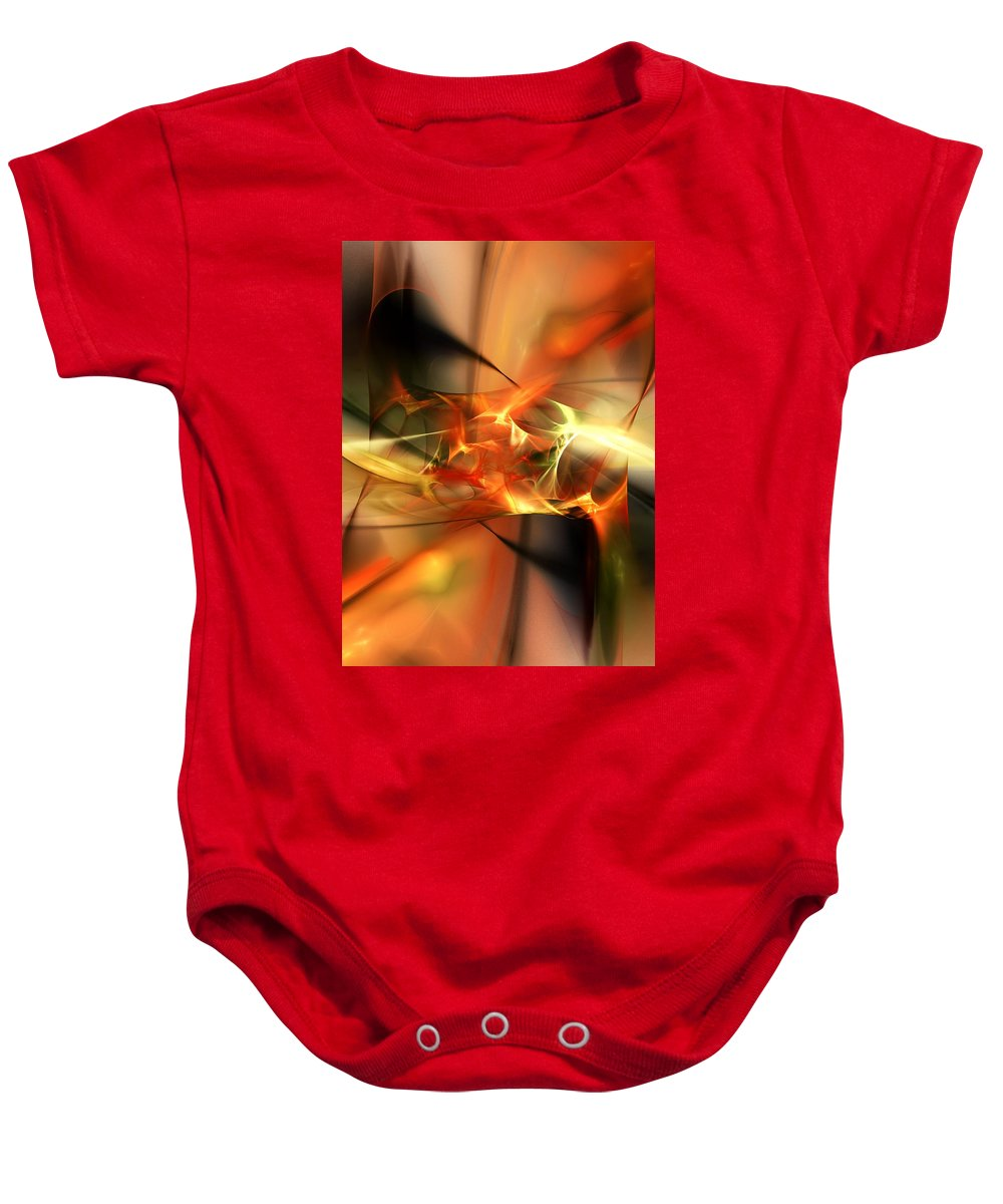 Digital Painting Baby Onesie featuring the digital art Abstract 060110a by David Lane