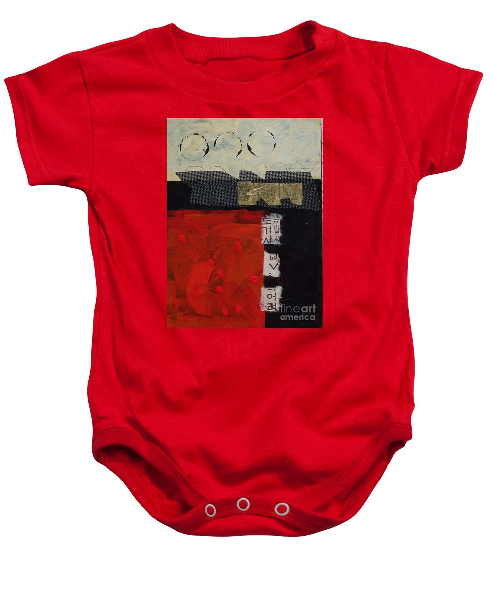 Abstract Baby Onesie featuring the painting Abstract 071 by Donna Frost