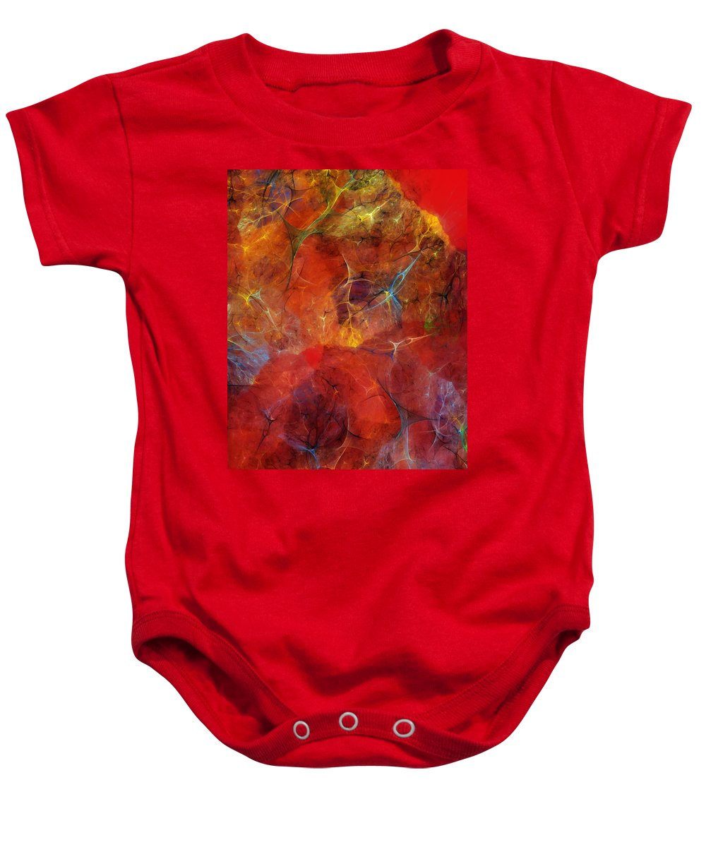 Abstract Baby Onesie featuring the digital art Abstract 081310 by David Lane