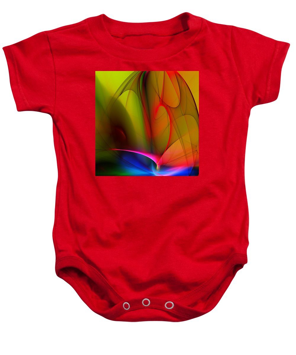 Fractal Baby Onesie featuring the digital art Abstract 082910 by David Lane