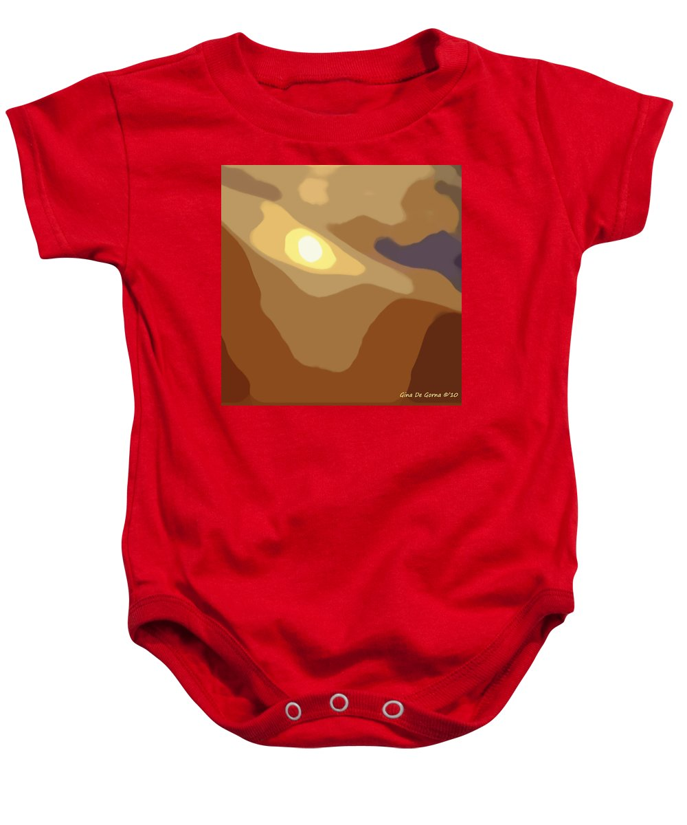 Acrylic Baby Onesie featuring the painting Abstract Sunset 39 by Gina De Gorna