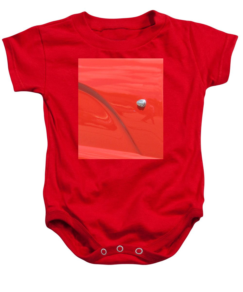 Thunderbird Baby Onesie featuring the photograph Abstract Thunder by Kelly Mezzapelle