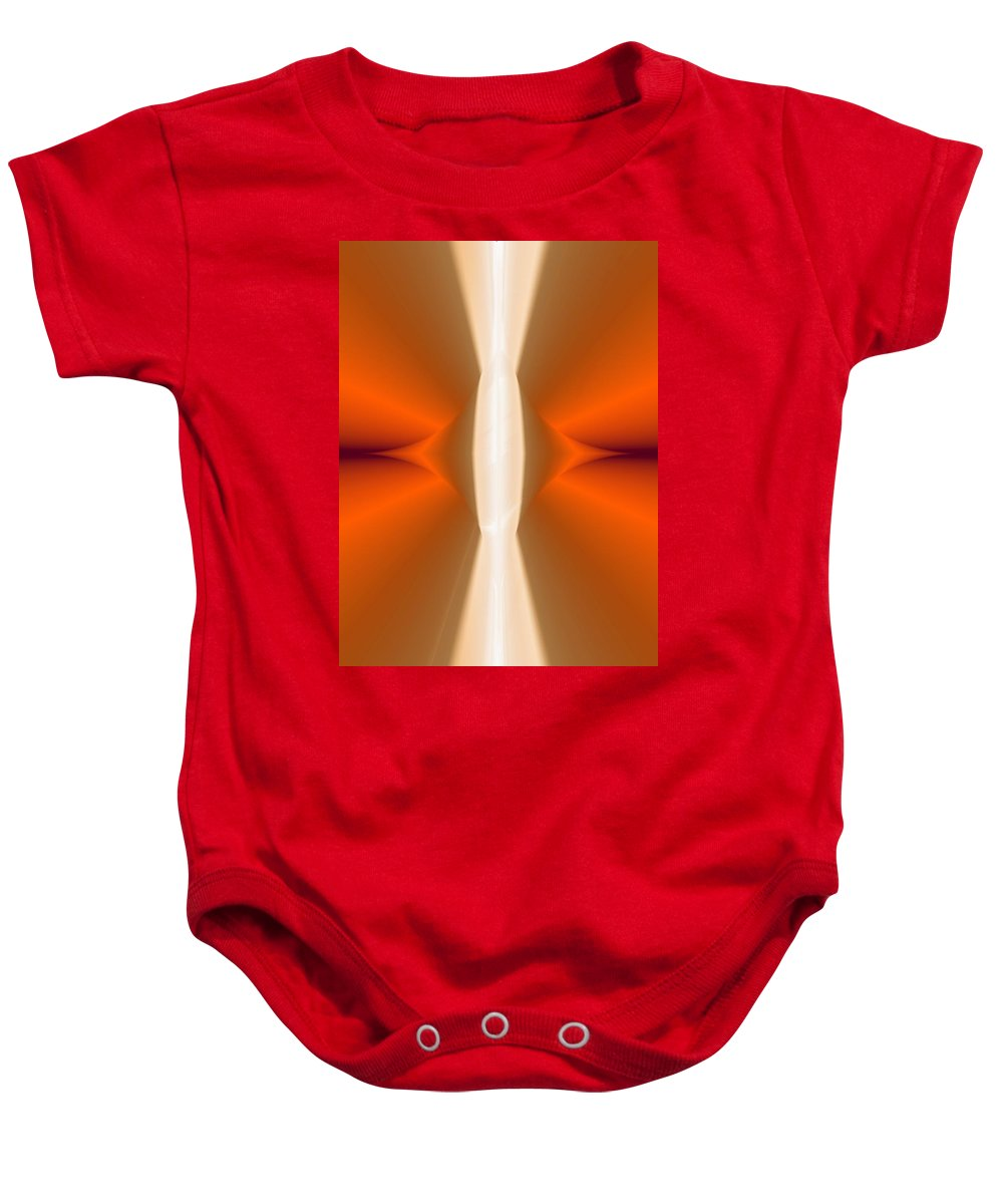Digital Painting Baby Onesie featuring the digital art Abstract309b by David Lane