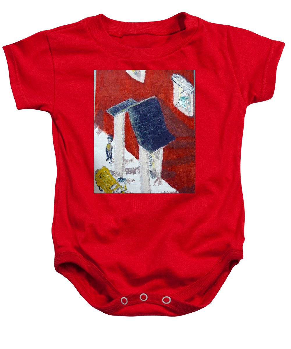 Social Realiism Baby Onesie featuring the painting Accessories by R B