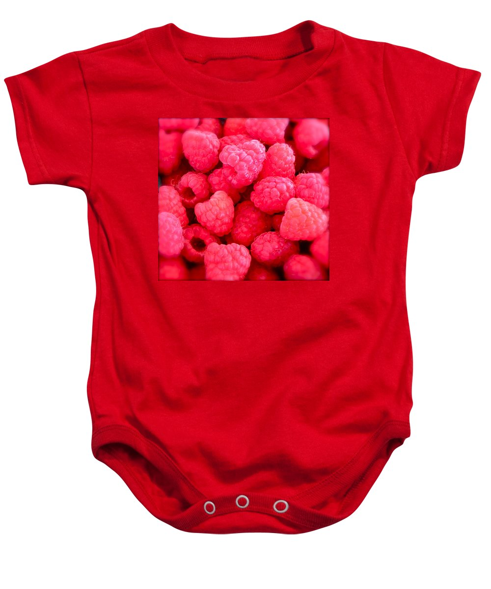 Photograph Of Berries Baby Onesie featuring the photograph Agenda For Today ... Raspberry Jam by Gwyn Newcombe