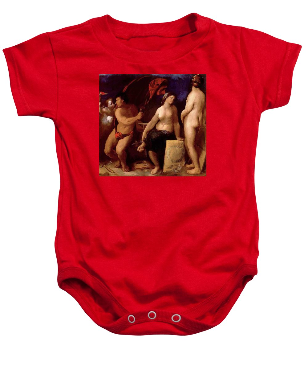Allegory Baby Onesie featuring the painting Allegory Of Music 1522 by Dossi Dosso