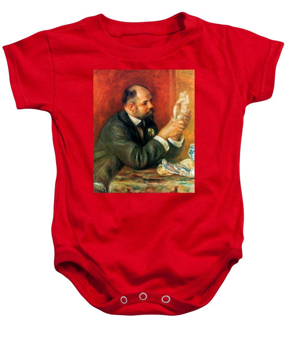 Ambroise Baby Onesie featuring the painting Ambroise Vollard 1908 by Renoir PierreAuguste