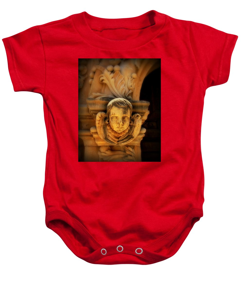 Angel Baby Onesie featuring the photograph Angel Face by Perry Webster