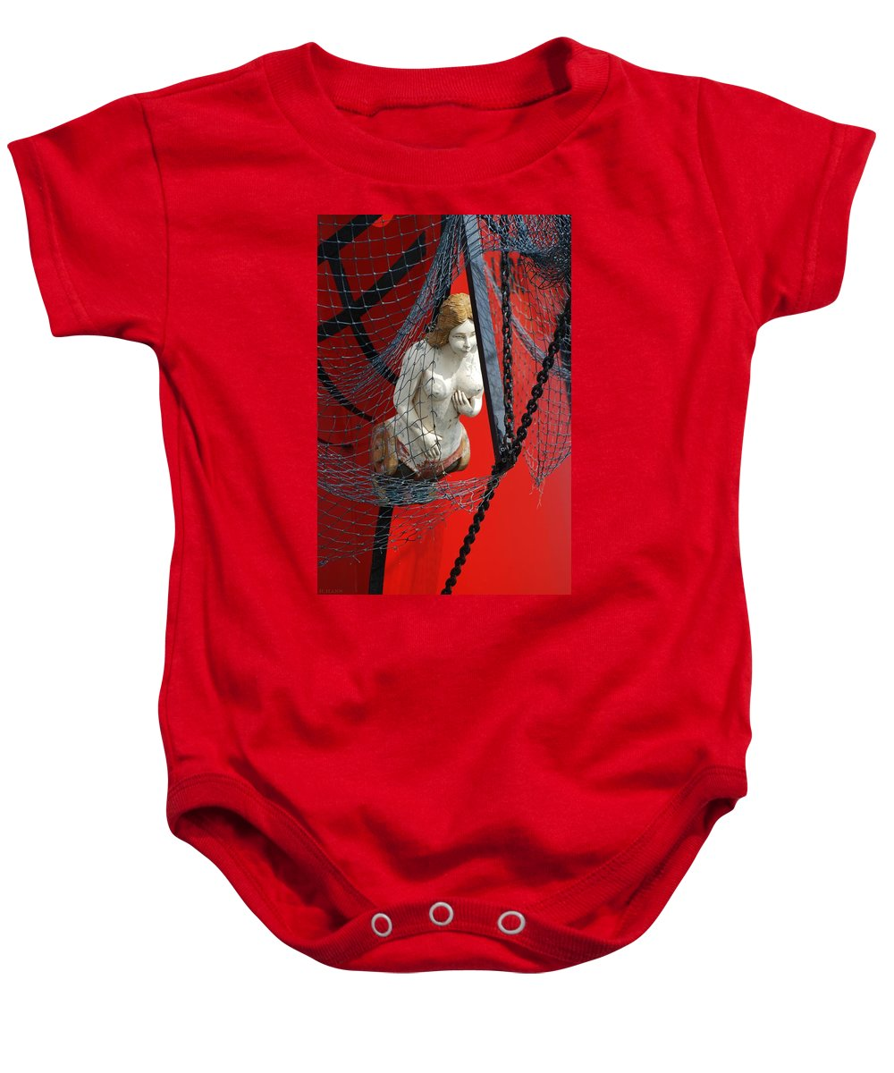 Ship Baby Onesie featuring the photograph Angel Of The Seas by Rob Hans