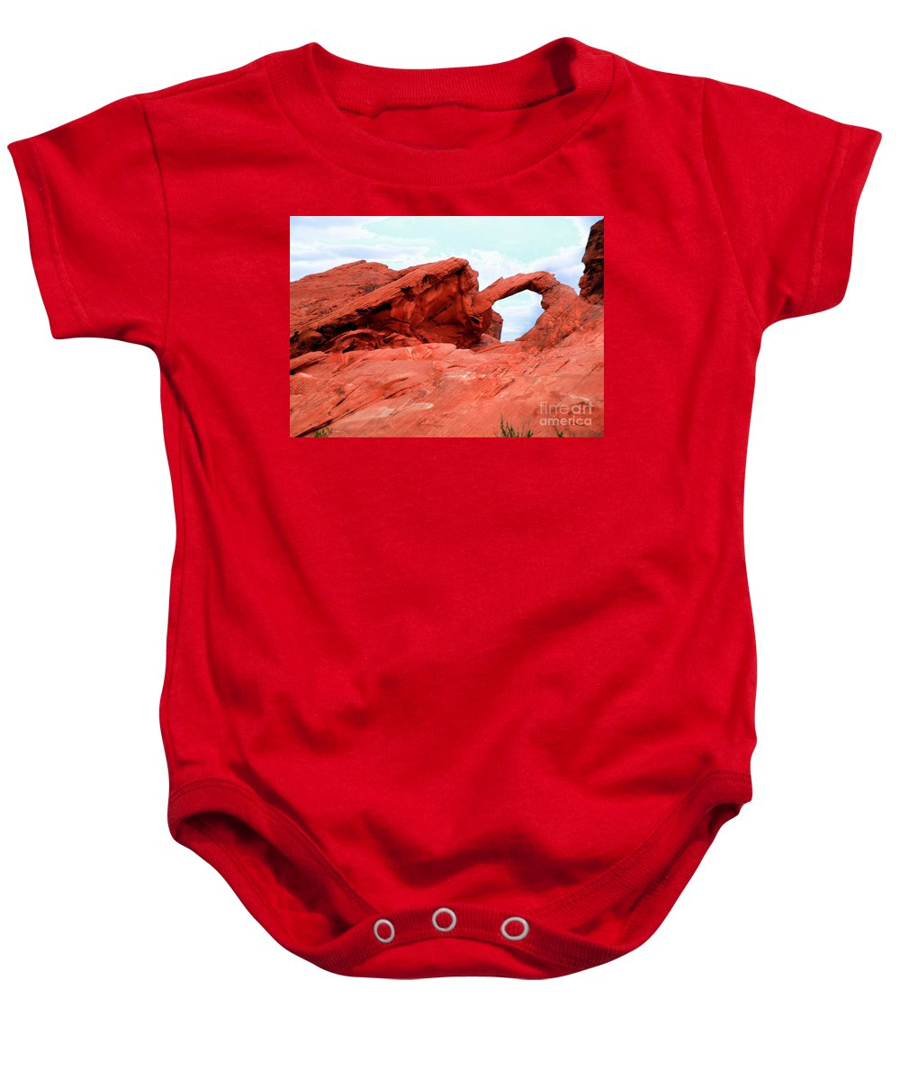 Arch Baby Onesie featuring the photograph Arch by Kathleen Struckle