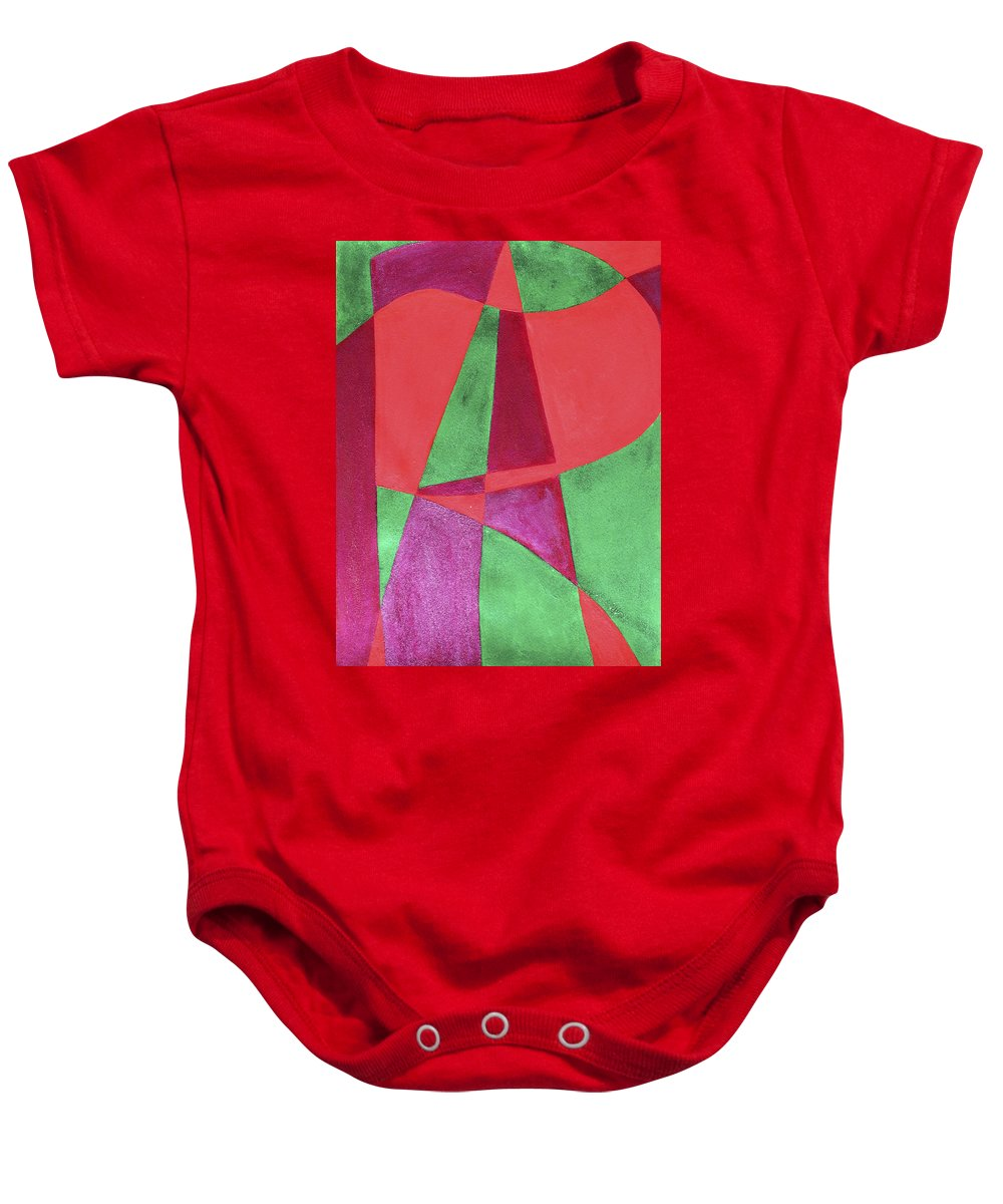Abstract Baby Onesie featuring the painting Art Painted In Abstract by Lee Serenethos