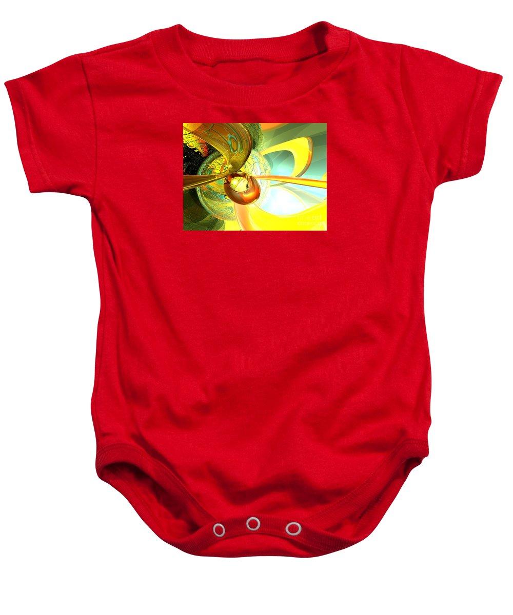 3d Baby Onesie featuring the digital art Articulate Design Abstract by Alexander Butler