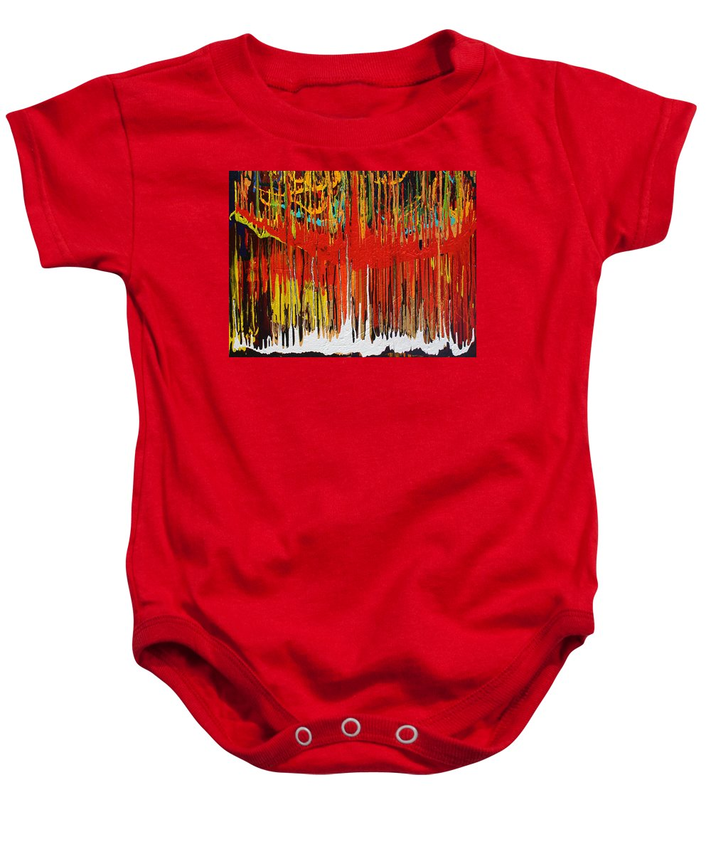 Fusionart Baby Onesie featuring the painting Ascension by Ralph White
