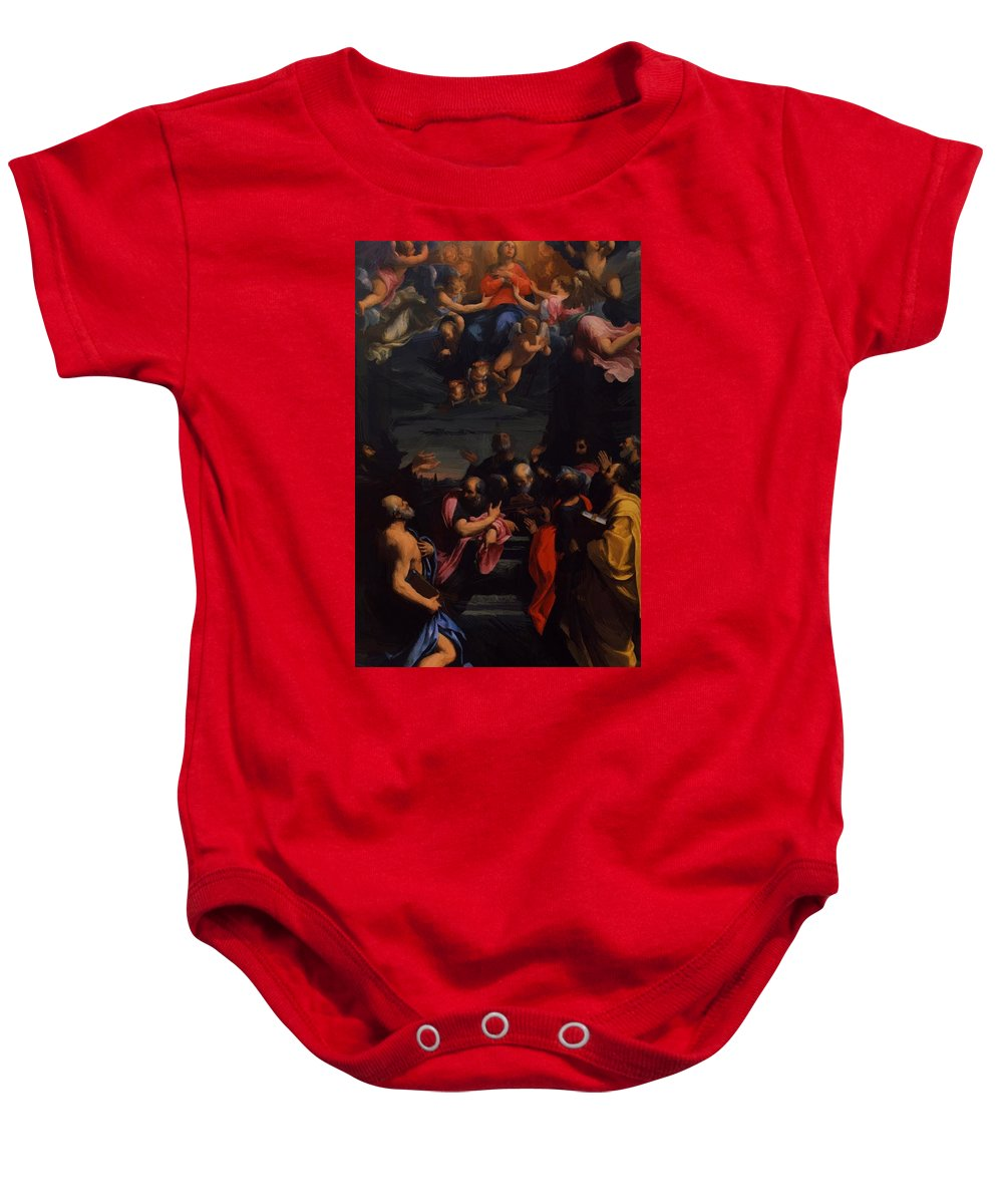 Assumption Baby Onesie featuring the painting Assumption 1600 by Reni Guido