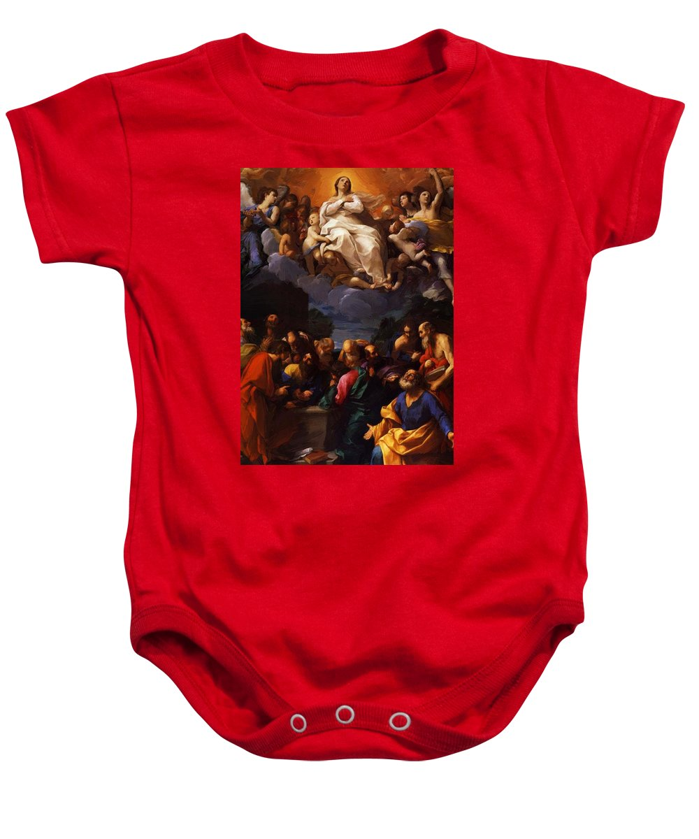 Assumption Baby Onesie featuring the painting Assumption 1617 by Reni Guido