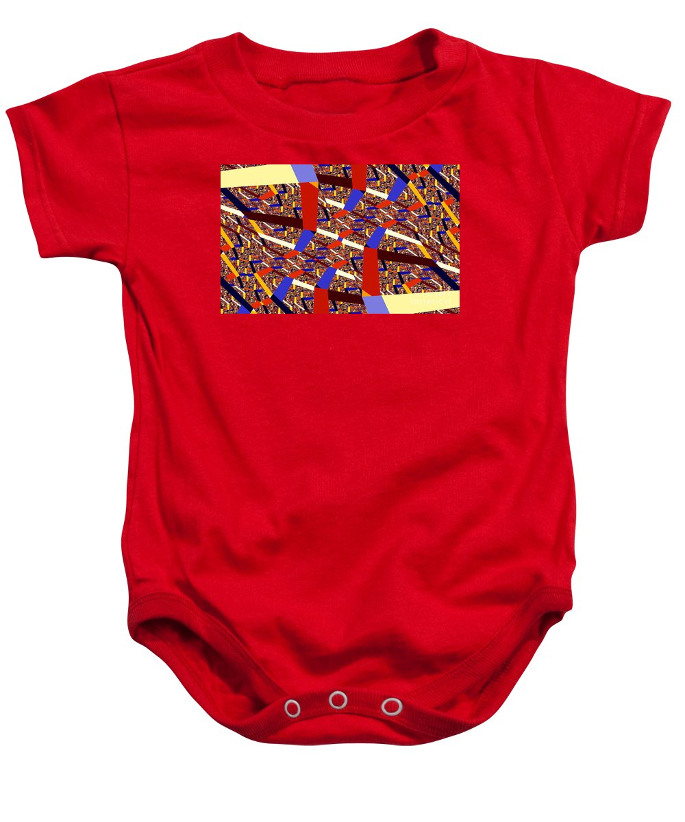Clay Baby Onesie featuring the digital art Atomic Link by Clayton Bruster