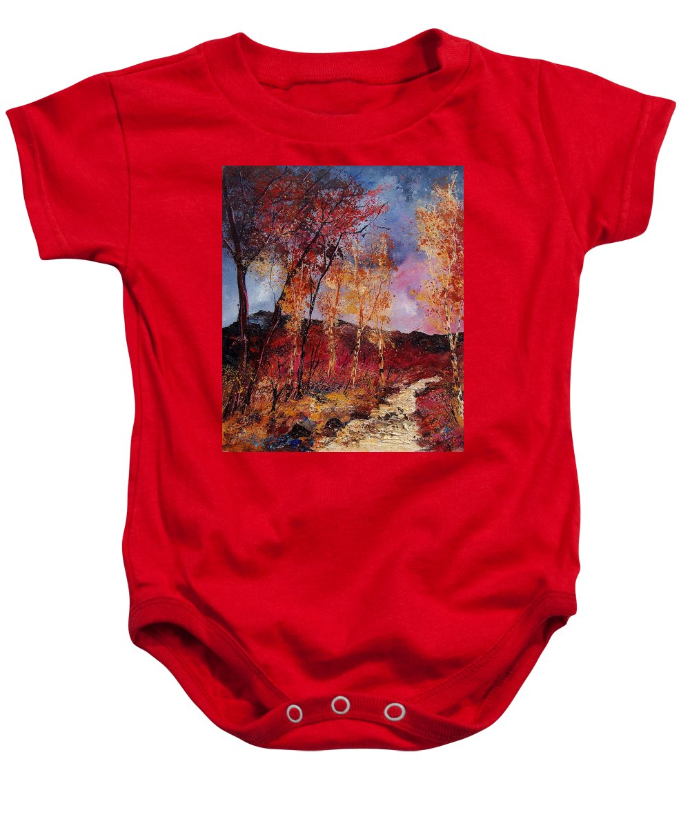 Tree Baby Onesie featuring the painting Autumn 6712545 by Pol Ledent