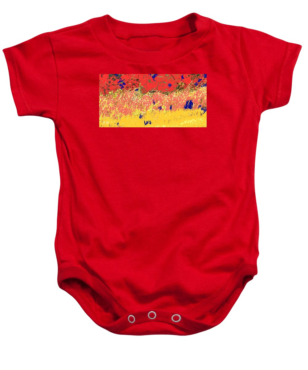 Autumn Baby Onesie featuring the photograph Autumn Grasses by Ian MacDonald