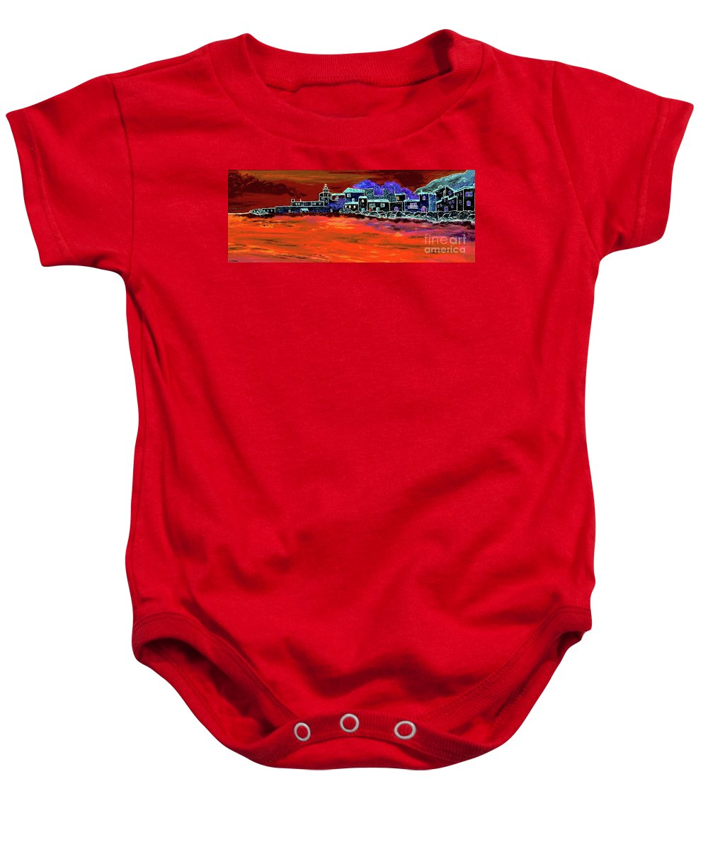 Mixed Media Baby Onesie featuring the painting Away From Home by Loredana Messina