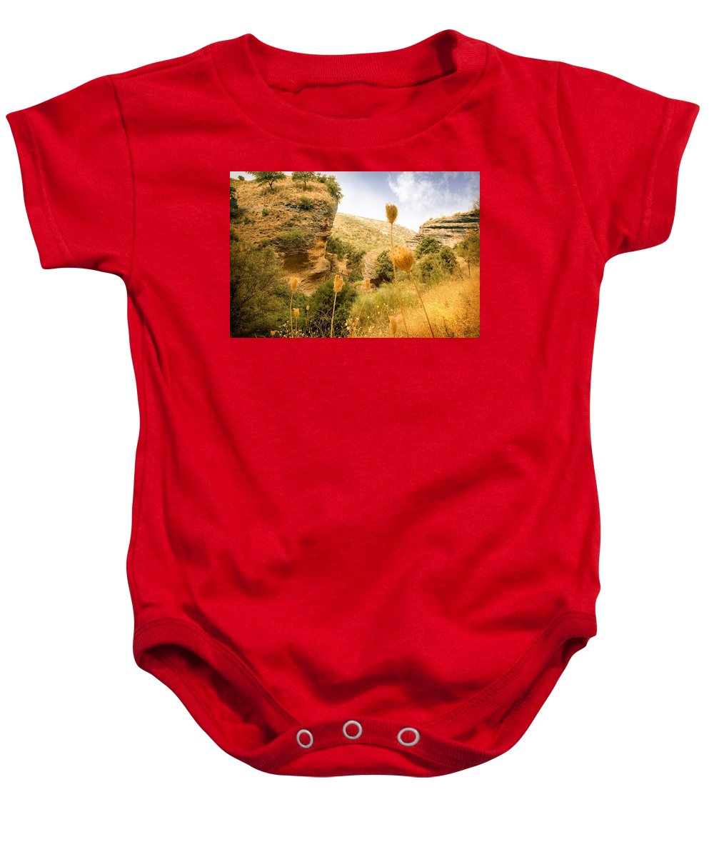 Spain Baby Onesie featuring the photograph Bandit Country Near The Edge Of The Fan In Ronda Area Andalucia Spain by Mal Bray