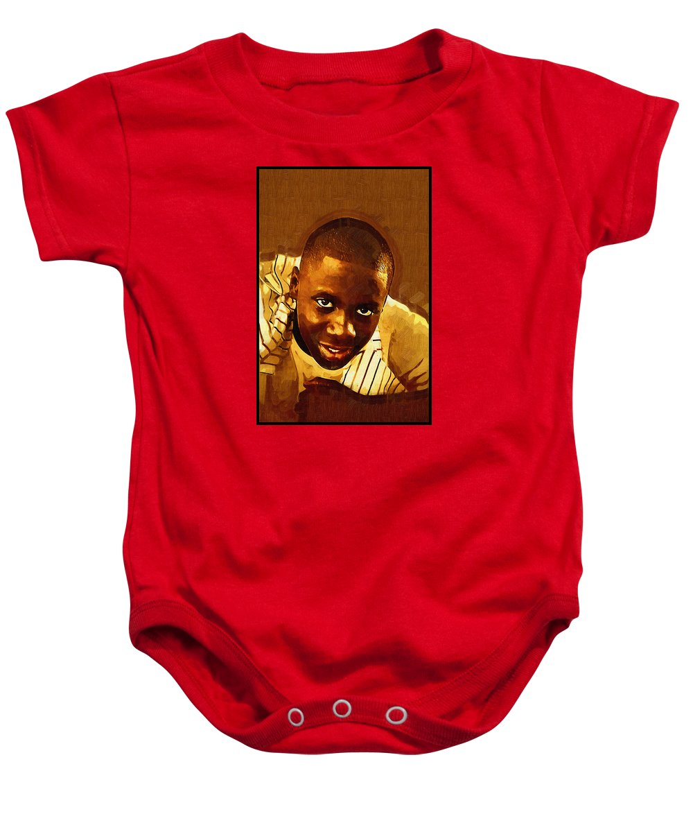 Beautiful Black Children Baby Onesie featuring the photograph Young Black Male Teen 1 by Ginger Wakem