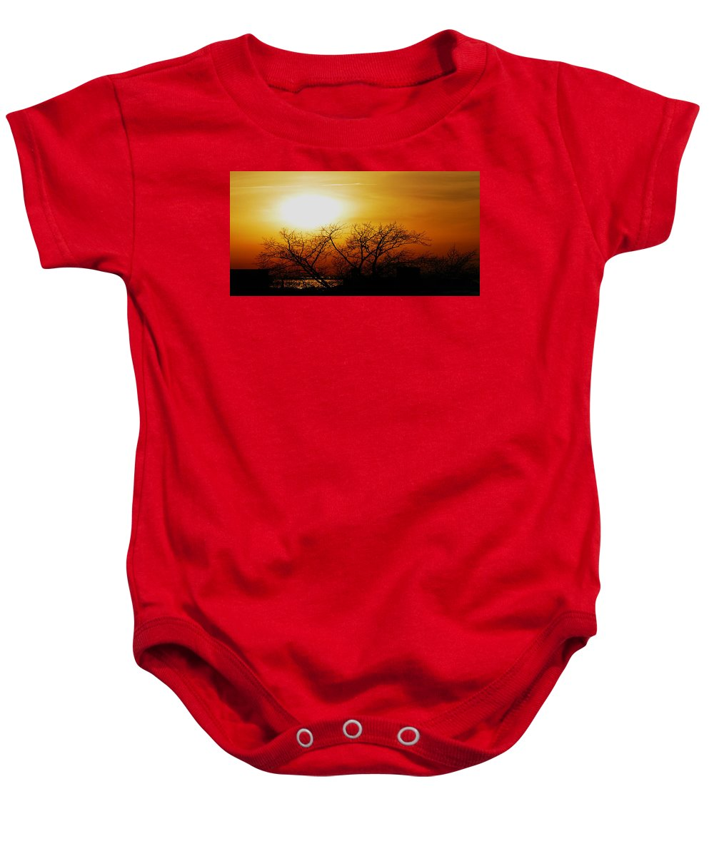 Landscape Baby Onesie featuring the photograph Branches by Kendall Eutemey