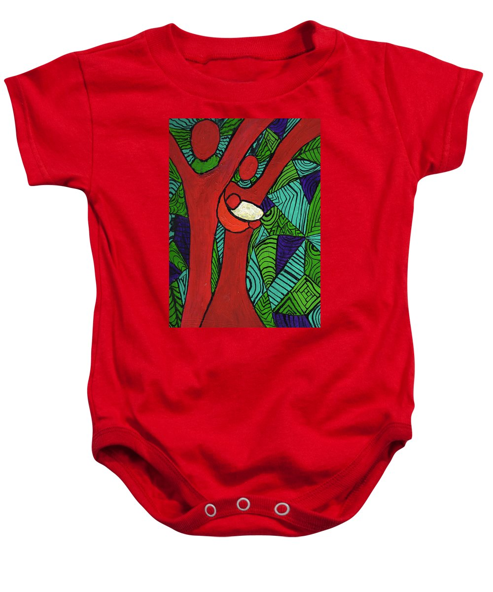 Family Baby Onesie featuring the painting Bright New Day by Wayne Potrafka