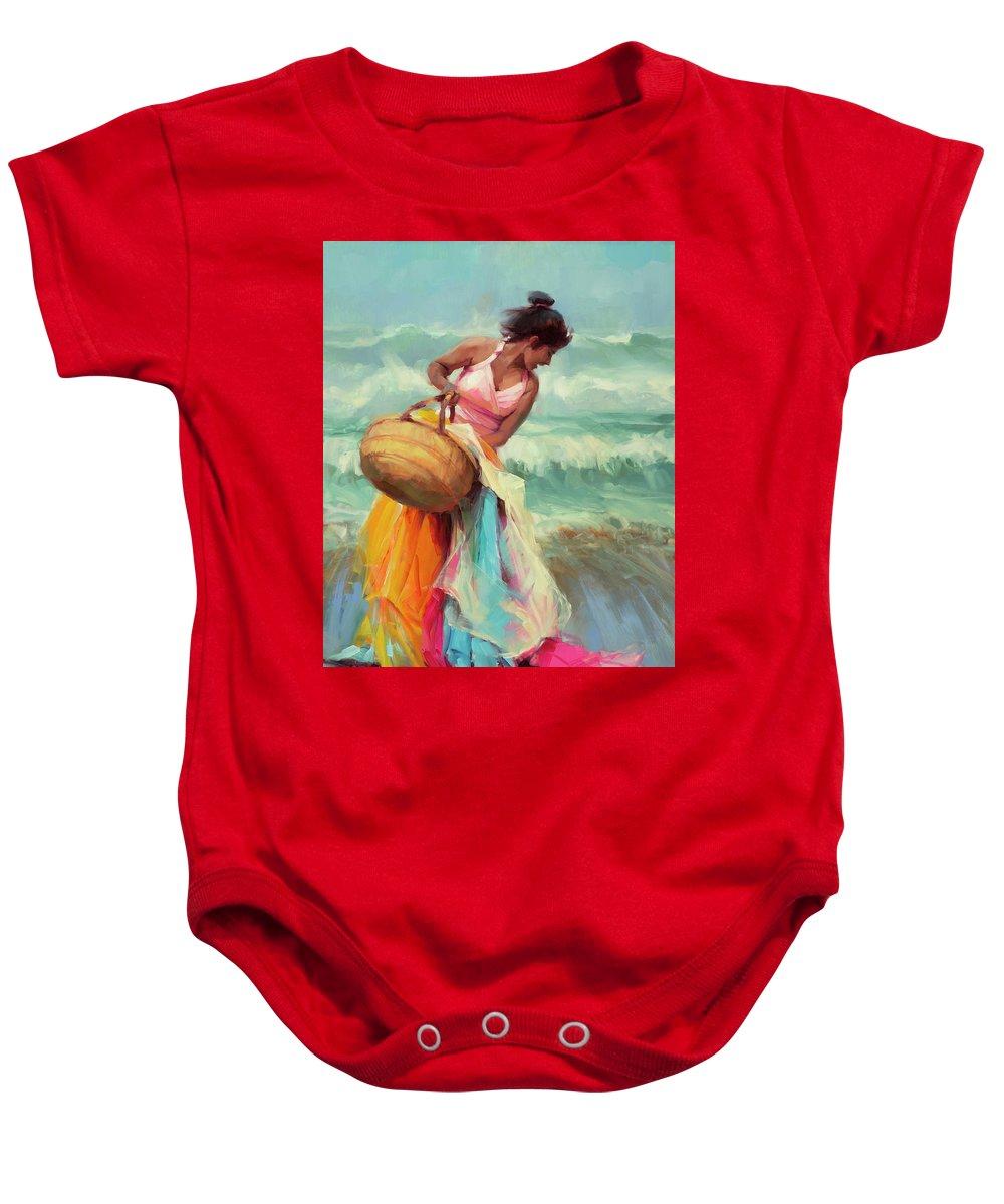Surf City Paintings Baby Onesies
