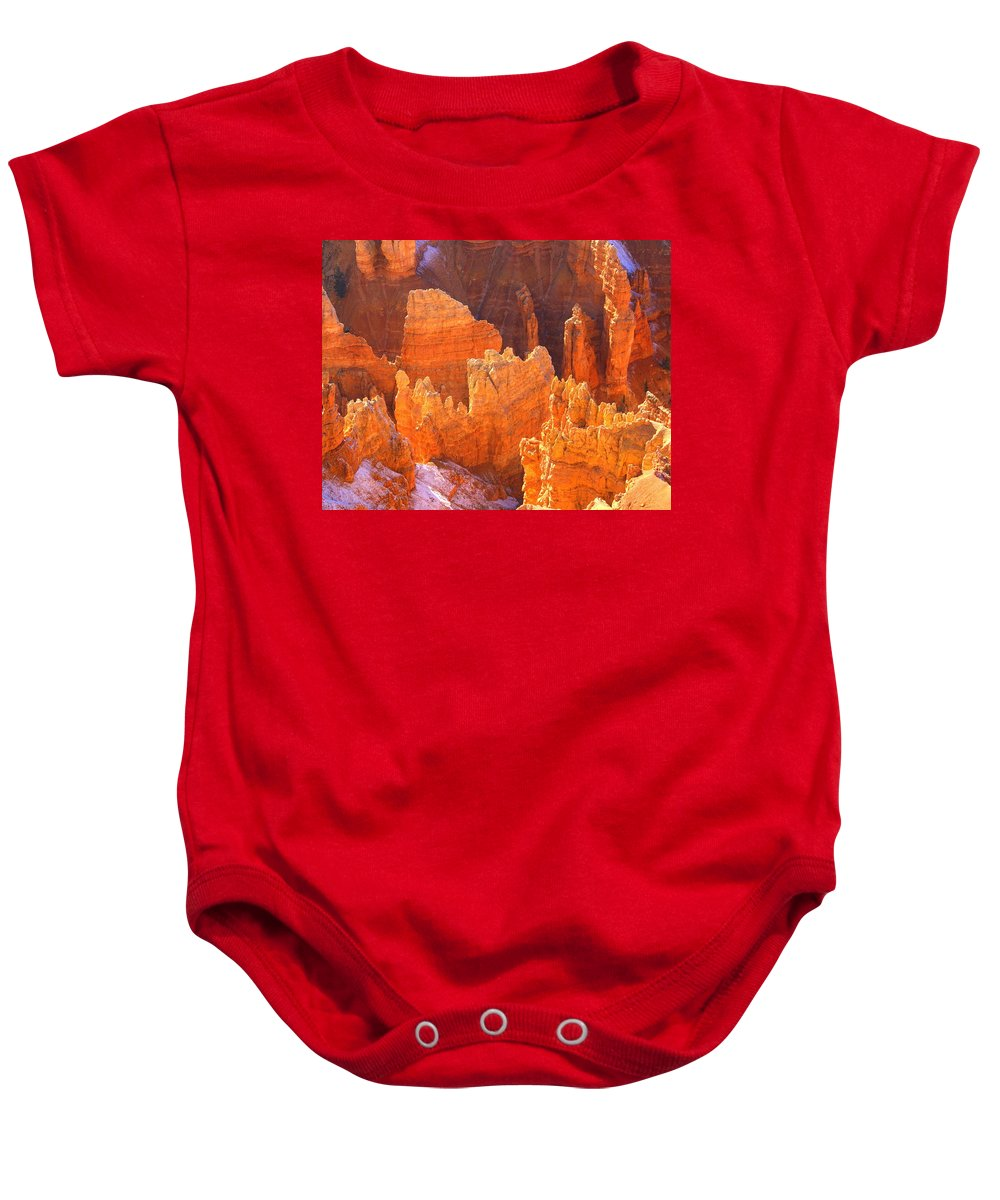 Bryce Canyon National Park Baby Onesie featuring the photograph Bryce Ablaze by Marty Koch