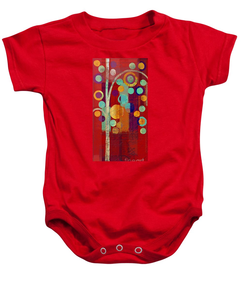 ubble Tree Baby Onesie featuring the painting Bubble Tree - 85rc13-j678888 by Variance Collections