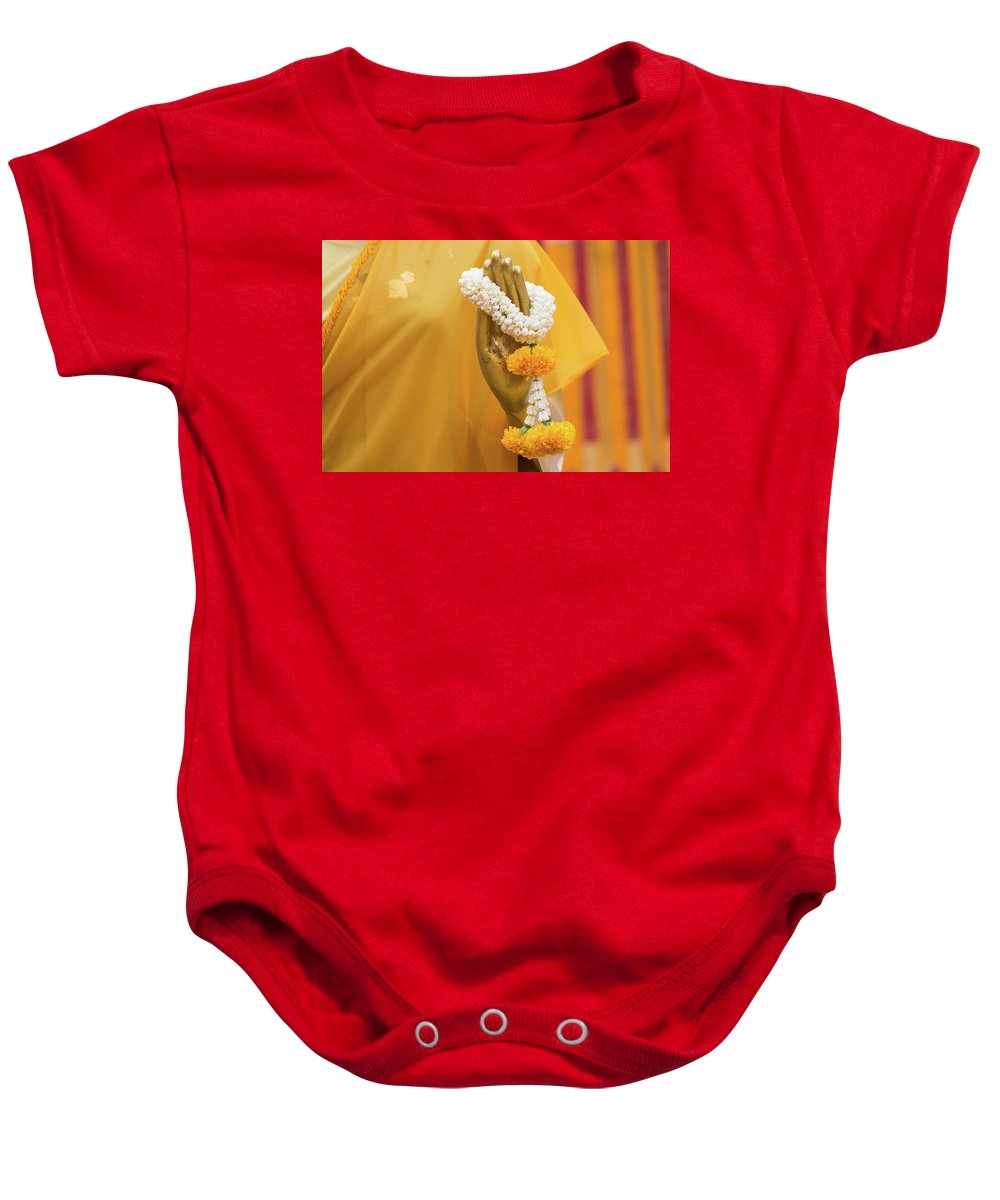Asia Baby Onesie featuring the photograph Buddha Blessing by Emily M Wilson