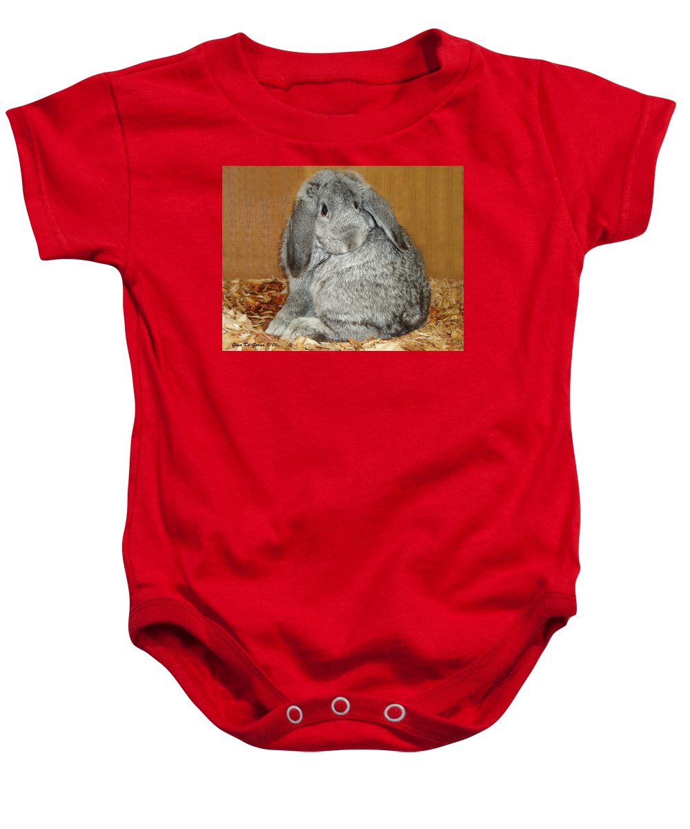 Bunny Baby Onesie featuring the photograph Bunny by Gina De Gorna
