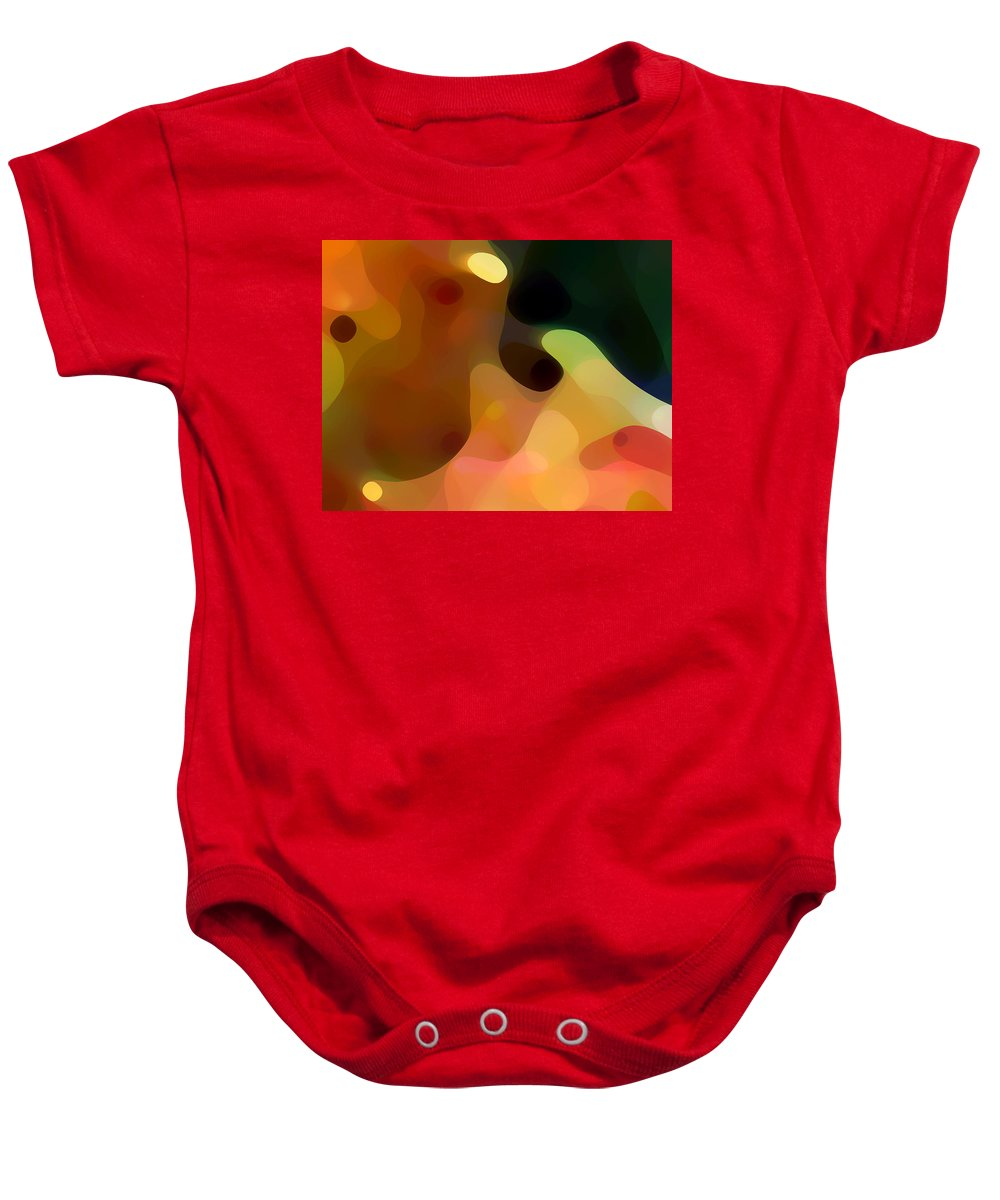 Bold Baby Onesie featuring the painting Cactus Fruit by Amy Vangsgard