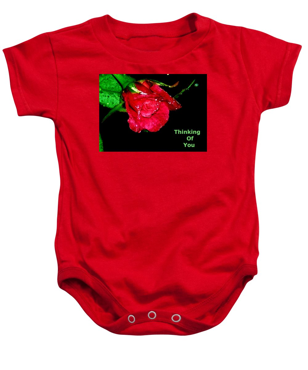 Card Baby Onesie featuring the photograph Card by Nilu Mishra