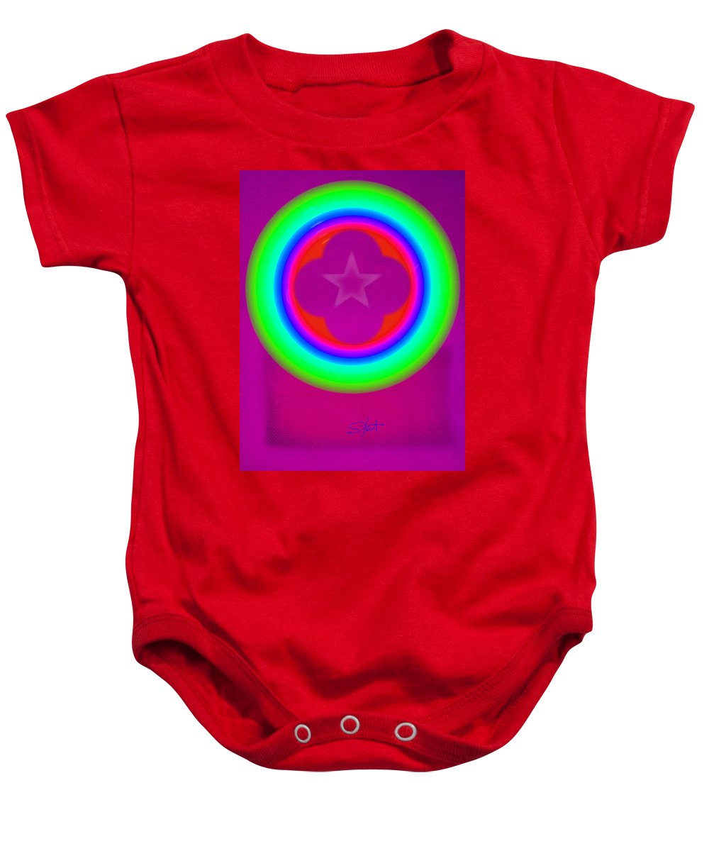 Abstract Baby Onesie featuring the painting Cardinal See by Charles Stuart