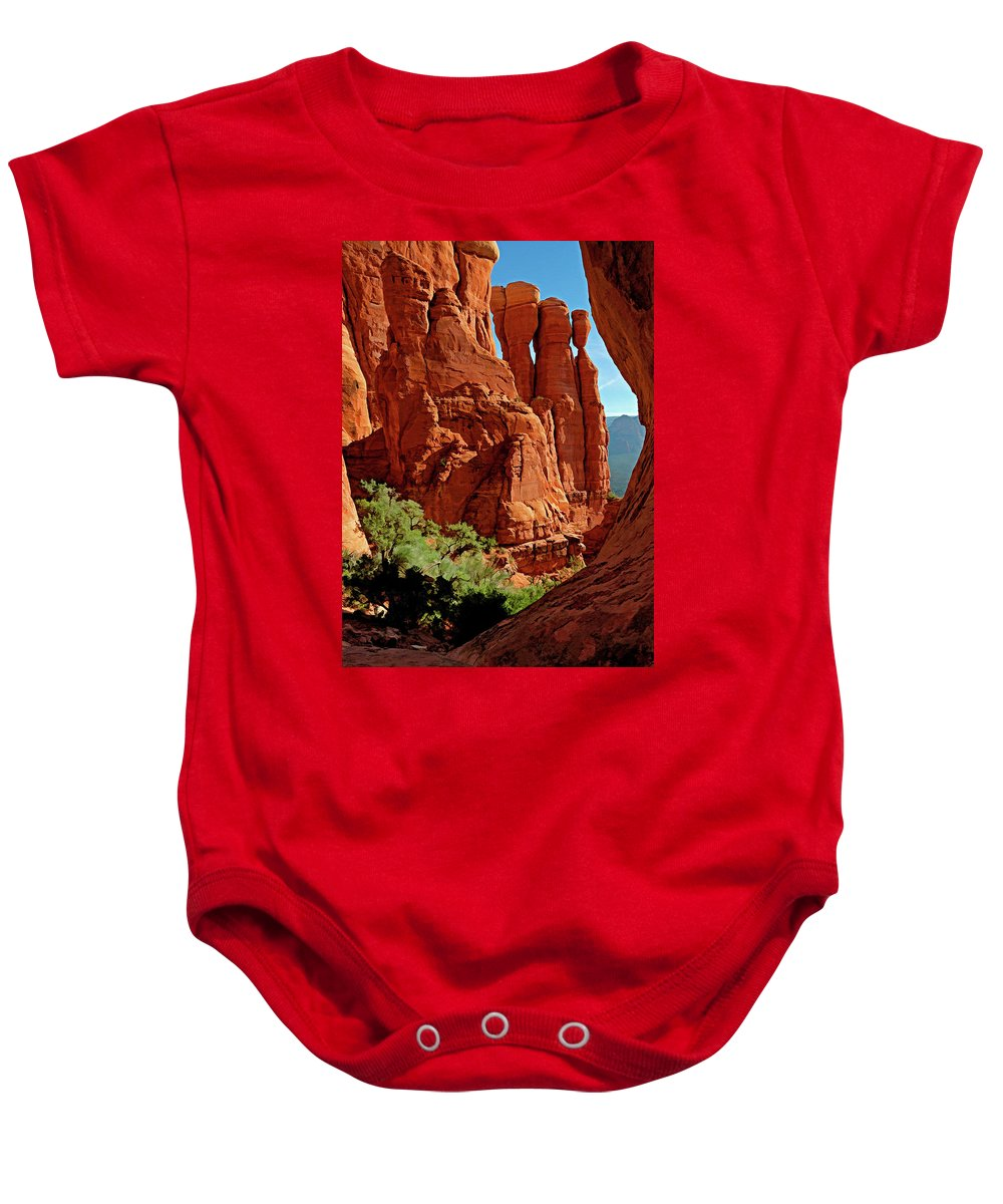Arizona Baby Onesie featuring the photograph Cathedral Rock 06-124 by Scott McAllister