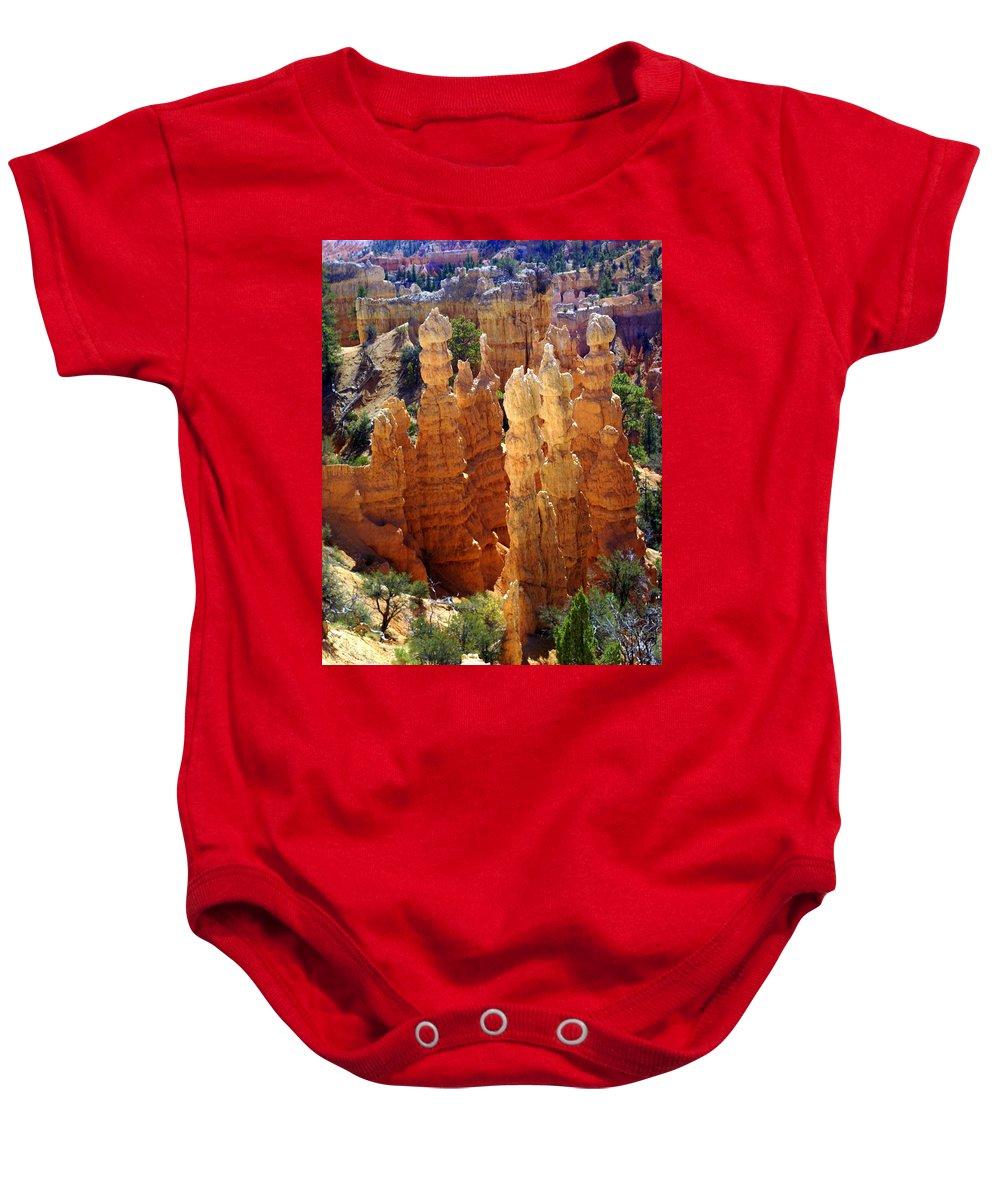 Cedar Breaks Baby Onesie featuring the photograph Cedar Breaks 1 by Marty Koch