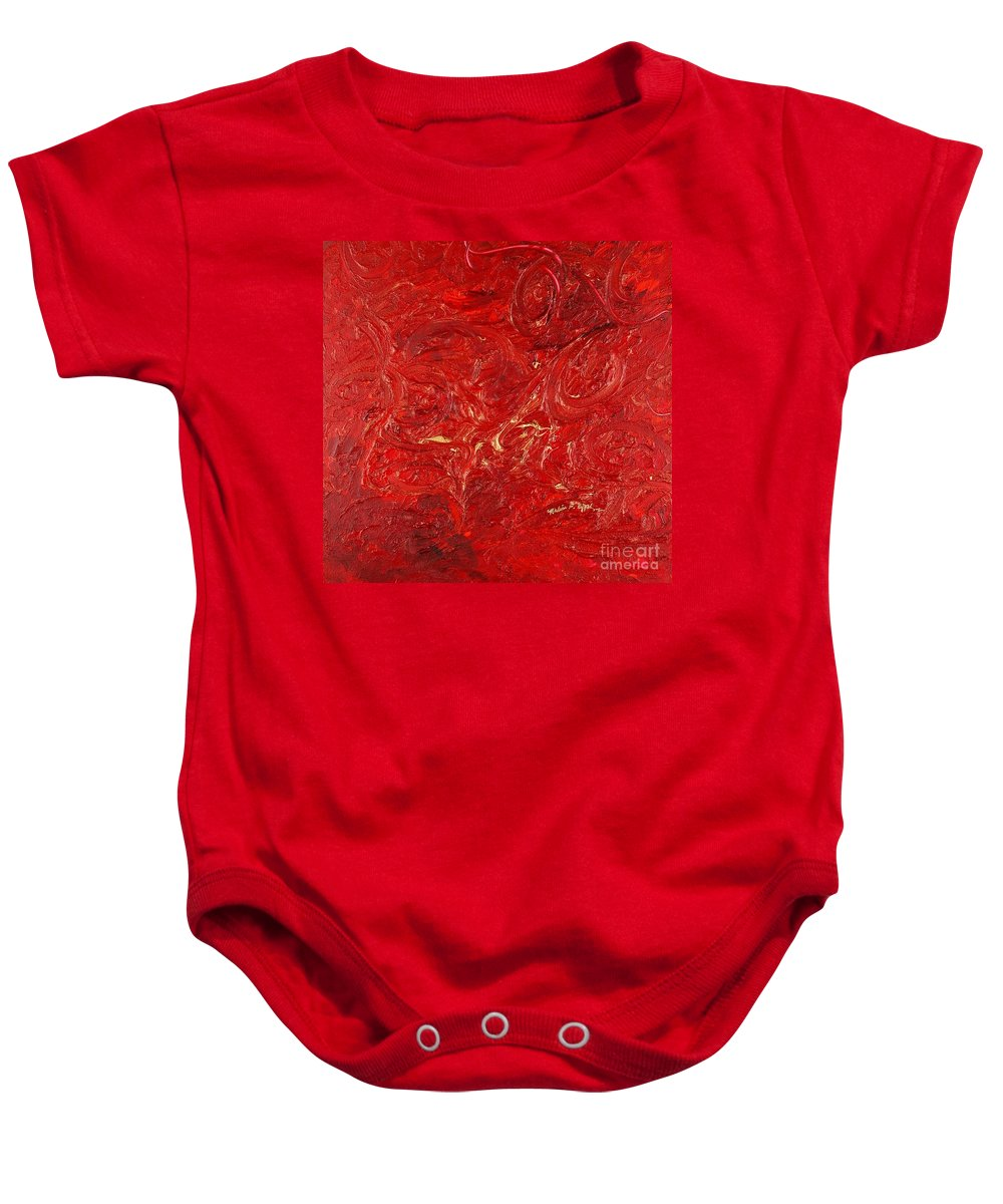 Red Baby Onesie featuring the painting Celebration by Nadine Rippelmeyer