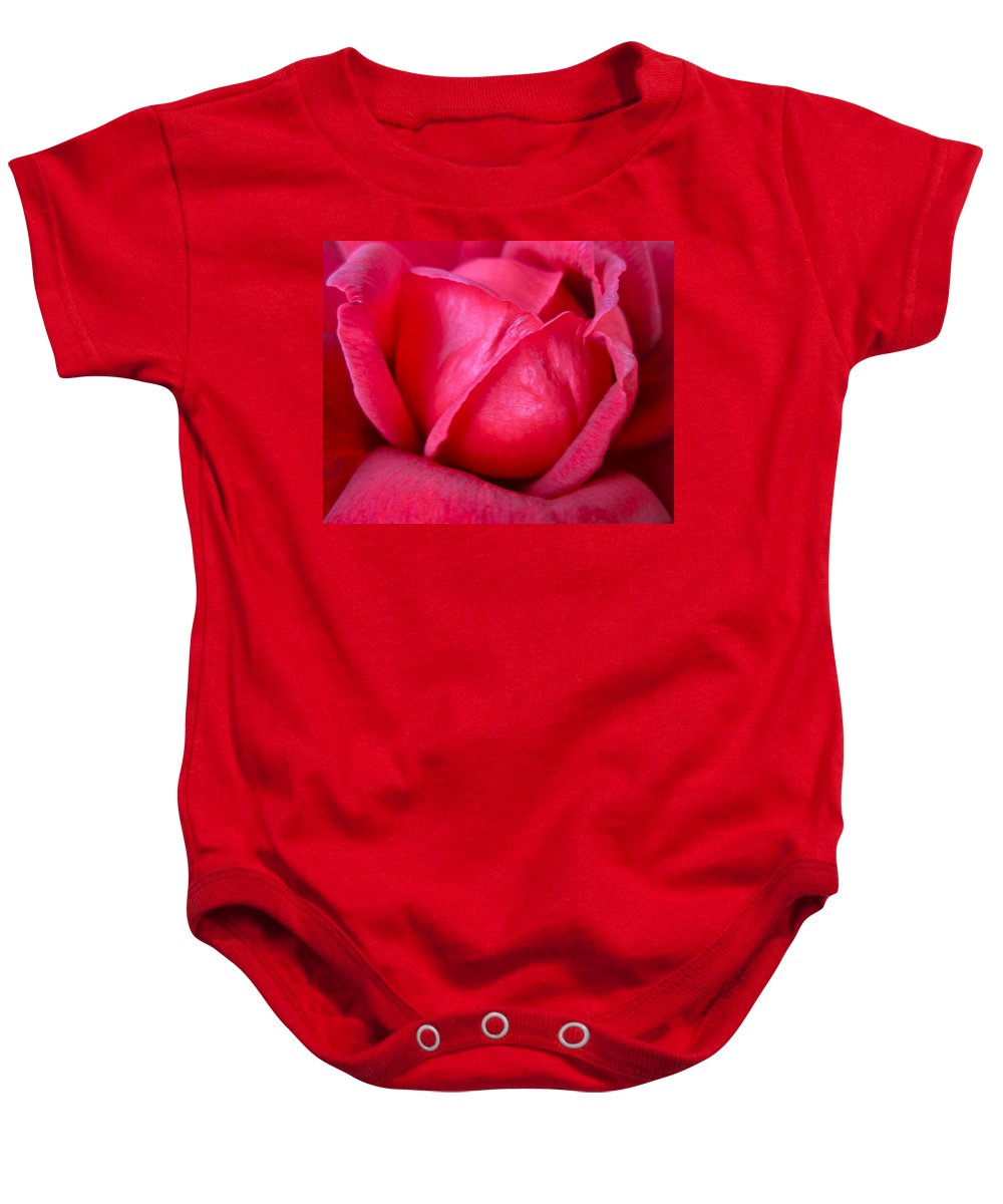 Photograph Of Rose Baby Onesie featuring the photograph Chachacha by Gwyn Newcombe