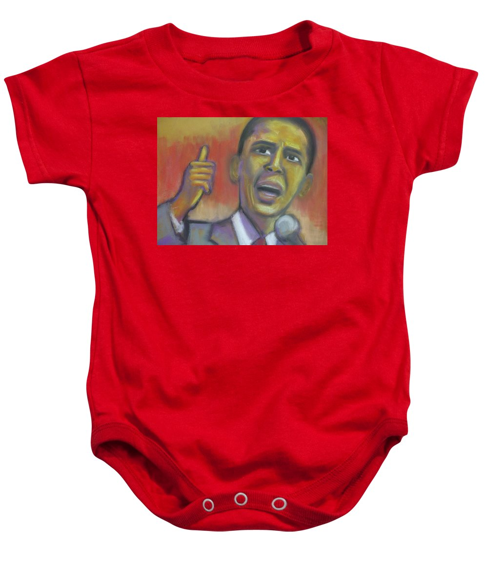African American Baby Onesie featuring the drawing Change Is Coming by Jan Gilmore