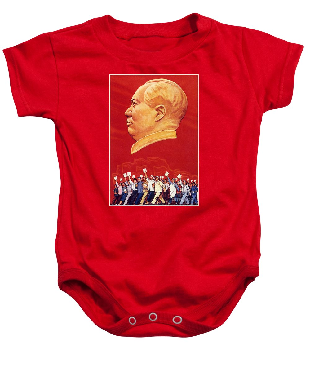 1967 Baby Onesie featuring the photograph Chinese Communist Poster by Granger